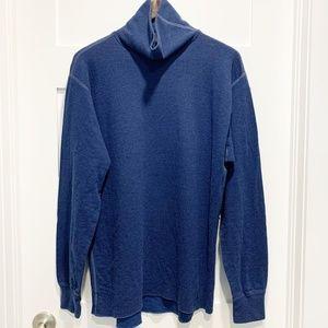Logistik Unicorp Cotton Wool Nylon Blue Turtleneck
